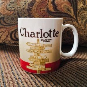 Starbucks Charlotte 2011 retired mug red white